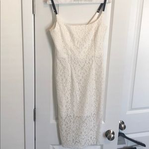 Milly white lace midi dress, size 4, worn once